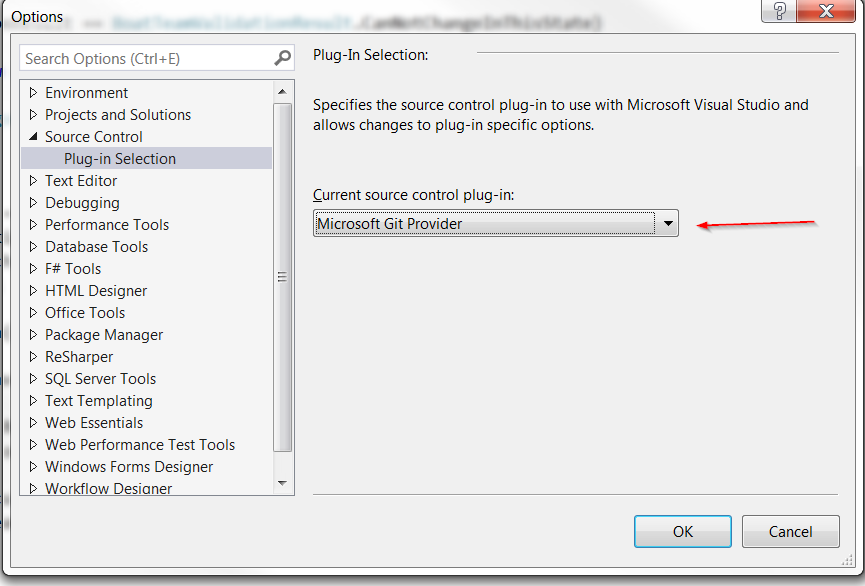 SLOW | Default Setting of Source Control plugin in Visual Studio